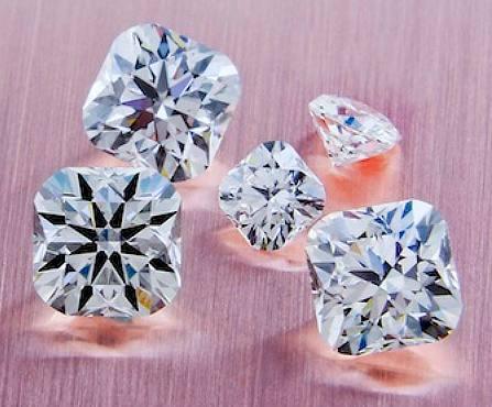 cushion cut hearts and arrows diamonds