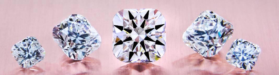 cushion cut hearts and arrows diamonds by Brian Gavin Diamonds
