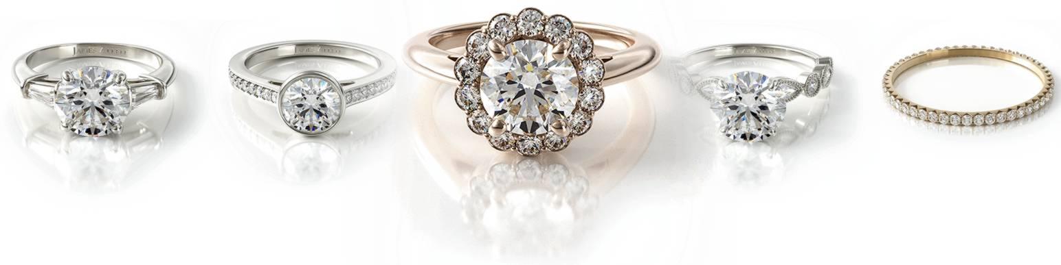 array of diamond rings